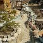 Изграждане на декоративен поток - изграждане на каскадата и декориране на бреговете